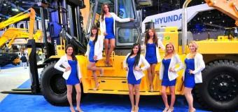 Вилочные погрузчики Hyundai на 20-й международной специализированной выставке «БУДПРАГРЭС»